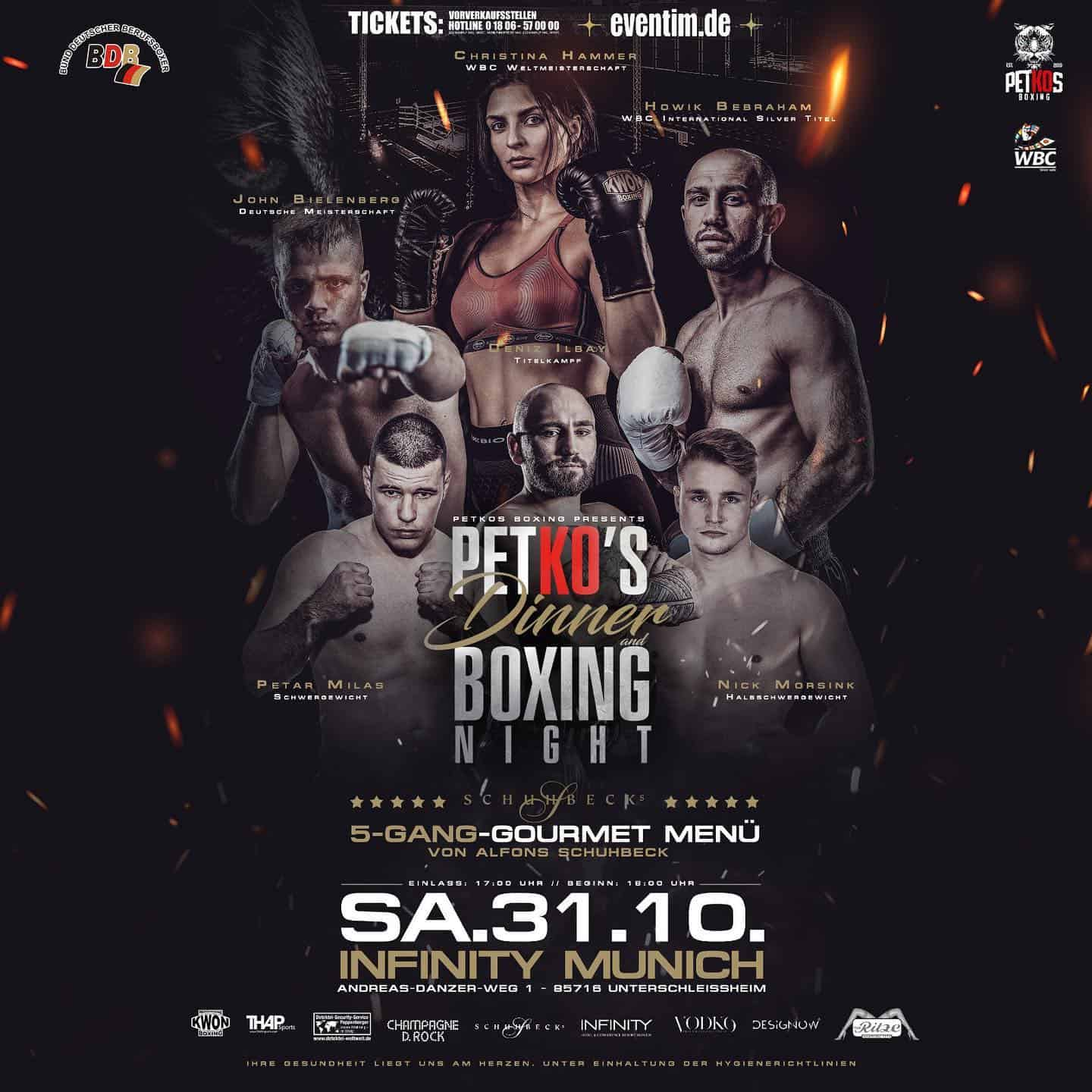 31.10.2020 – Petko's Dinner & Boxing Night